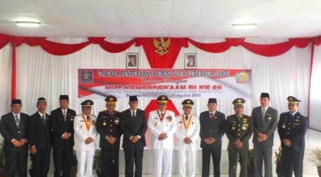 Upacara Penyerahan Remisi Umum Oleh Gubernur Jambi
