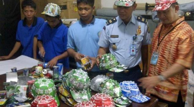 Topi Kaleng Produksi Warga Binaan Rutan Batam selalu Habis Terjual di Mal