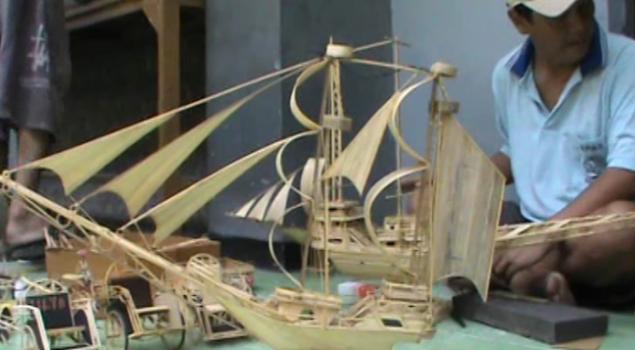 Penghuni Lapas Buat Kerajinan Miniatur Becak Dan Kapal