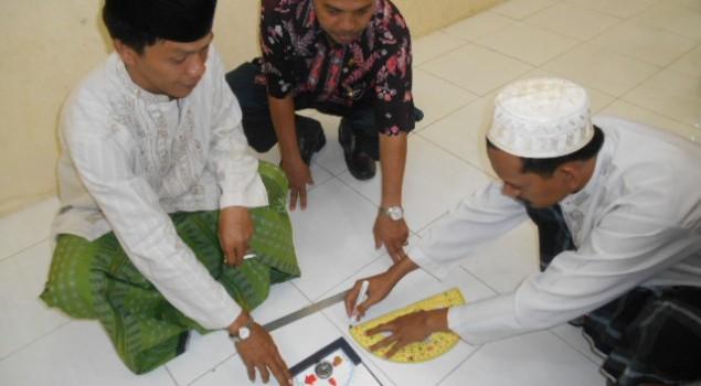 Pengukuran Arah Kiblat Masjid Lapas