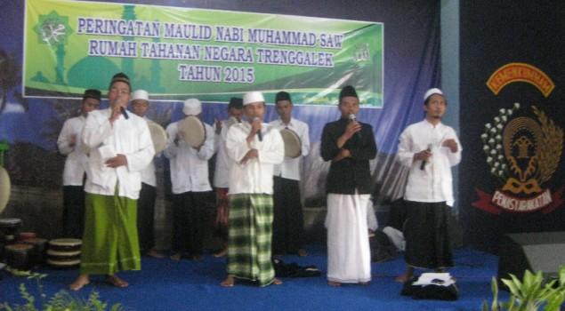 Shalawat Berkumandang saat Peringatan Maulid Nabi Di Rutan Trenggalek