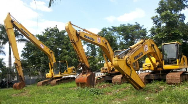 Tiga Unit Excavator Kini Huni Rupbasan Bandung