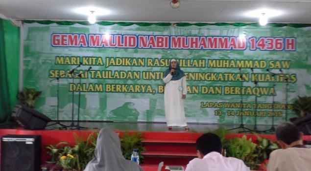 Peringati Maulid Nabi Muhammad SAW, Lapas Wanita Tangerang Gelar Lomba Nasyid dan Tauziah