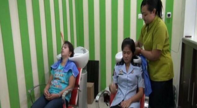 Ada Salon Kecantikan di Dalam Lapas Palembang