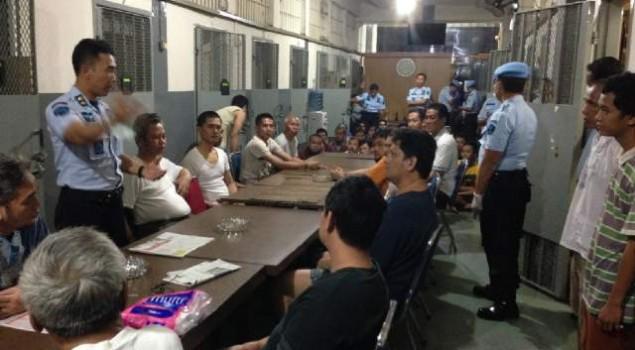Pengarahan Kepala Rutan Jakarta Pusat Saat Sidak WBP