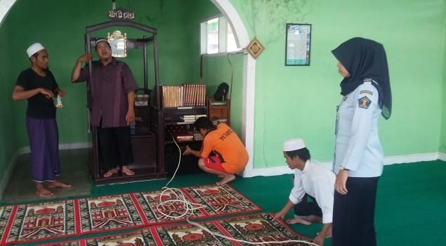Lapas Padangsidimpuan Wujudkan Masjid yang Selalu Bersih