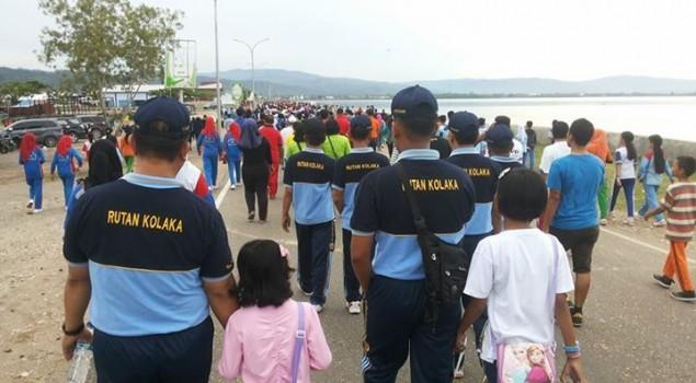 Rutan Kolaka Ikuti Jalan Santai HUT Kabupaten Kolaka Ke 55