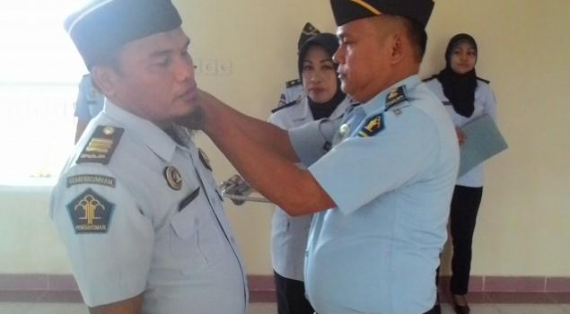Komandan Jaga Rutan Pinrang Naik Pangkat