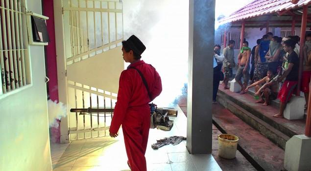 Cegah DBD, Rutan Pinrang di-Fogging