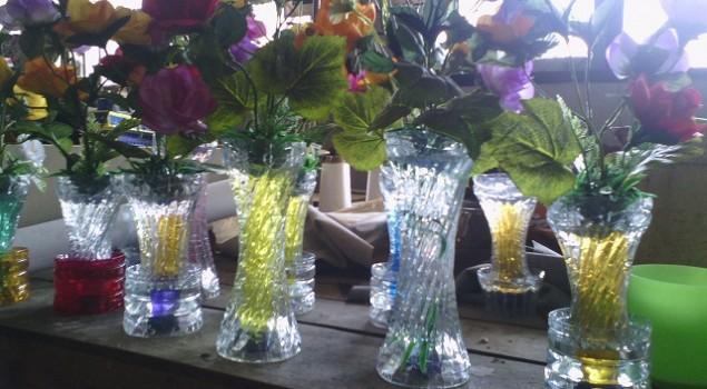 Vas Bunga Buatan WBP Rutan Pekalongan Diminati Konsumen