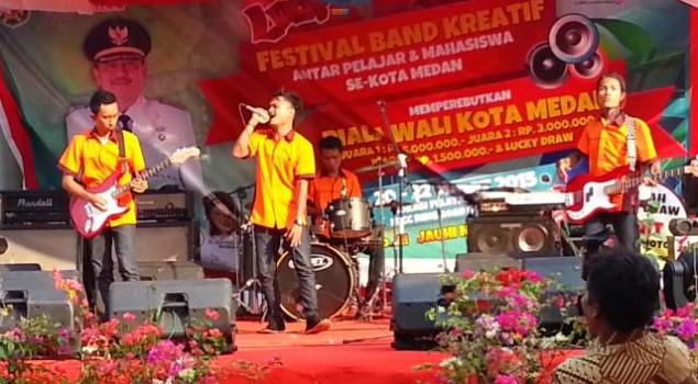 Anak Binaan LP Tanjung Gusta Juara Festival band Se-Kota Medan