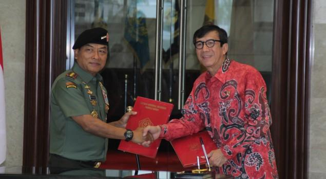 MoU Kemenkumham dan TNI Ditandatangani
