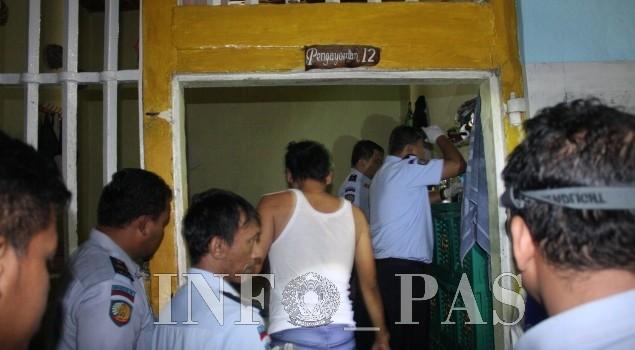 Tim Gabungan Lakukan Penggeledahan dan Tes Urin WBP Lapas Gorontalo