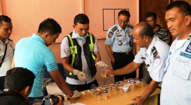 Napi dan Pegawai Lapas Meulaboh Dites Urine Mendadak