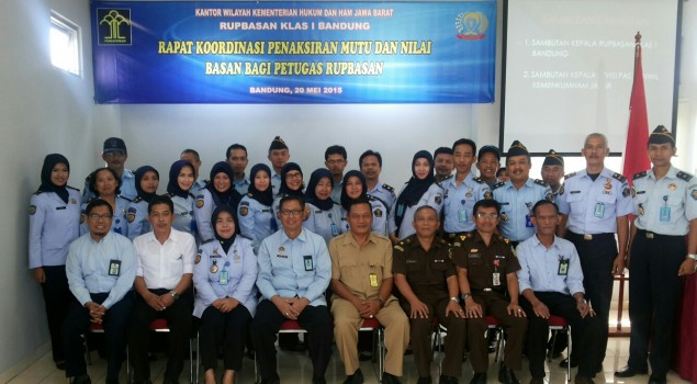 Rupbasan Bandung Gelar Rapat Koordinasi Penaksiran Nilai Dan Mutu Barang Sitaan
