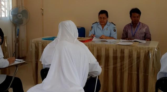 WBP Lapas Wanita Malang Ikut ujian Kejar Paket A