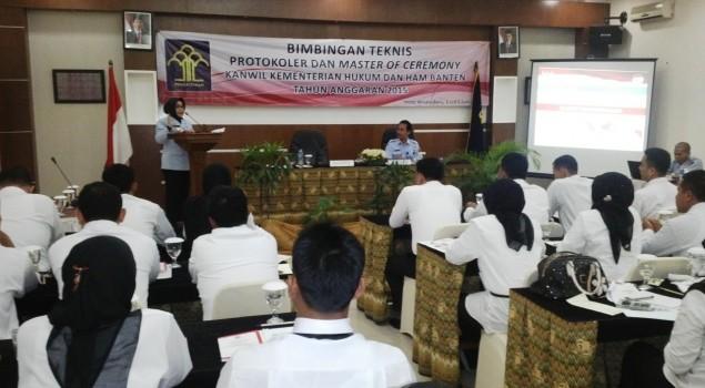 Tingkatkan Pengetahuan, UPT Kanwil Kemenkumham Banten Ikuti Bimtek