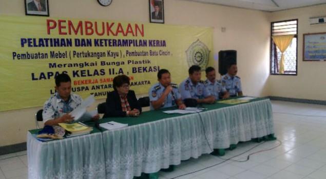 Lapas Bekasi - LPK Puspa Antariksa Jalin Kerjasama Pembinaan Napi