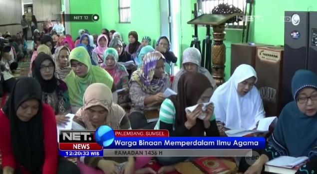 Warga Binaan di Lapas Wanita Palembang Memperdalam Ilmu Agama