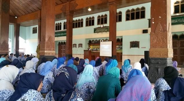 Pegawai Rutan Bantul Ikuti Tausyiah Jelang Ramadhan