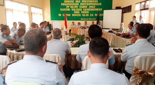 Diskusi PP No. 99 Tahun 2012 Kantor Wilayah Kemenkumham Jawa Timur