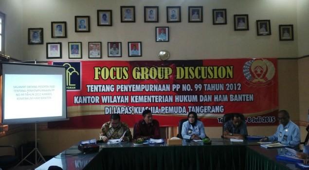 Pembukaan Focus Group Discusion oleh Kakanwil Banten