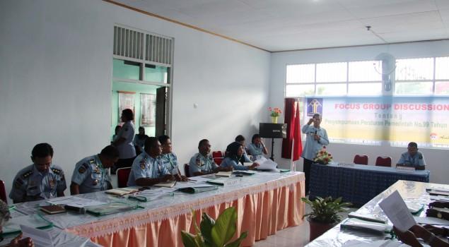 Divpas Maluku Gelar FGD Penyempurnaan Pp 99/2012