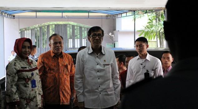 Marawis WBP Sambut Menkumham di Lapas Wanita Tangerang