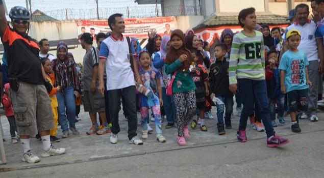 Keluarga Besar Rutan Samarinda Ikuti Jalan Santai