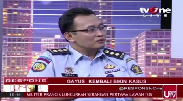 GAYUS KEMBALI BIKIN KASUS - RESPONS TV ONE 27 September 2015