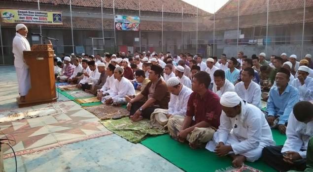 Ratusan WBP dan Petugas Rutan Pakalongan Khusyu Rayakan Idul Adha
