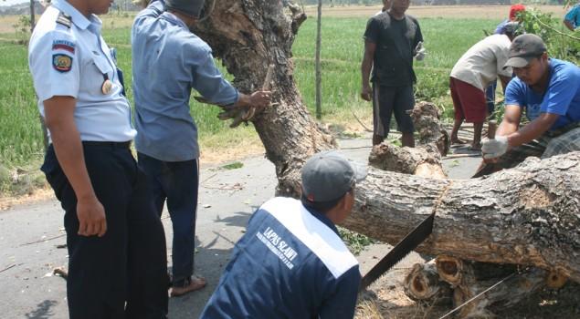 Bantu Kerja Bhakti Desa Tegalandong, WBP Lapas Slawi Diapresiasi