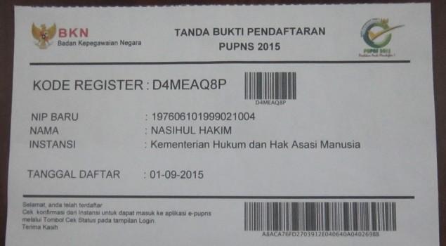 Seluruh Pegawai Lapas Brebes Hadiri Diseminasi e-PUPNS 2015