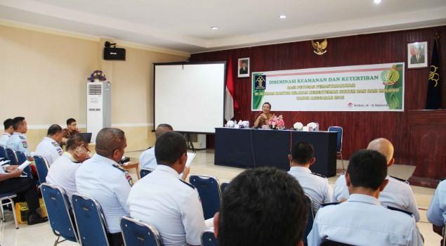 SMR Jadi Materi Pokok Diseminasi Kamtib Kanwil Maluku