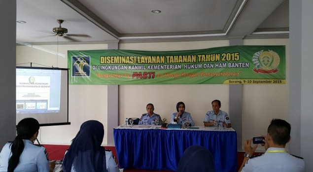 Peserta Diseminasi Layanan Tahanan Dapat Support dari Kakanwil Banten