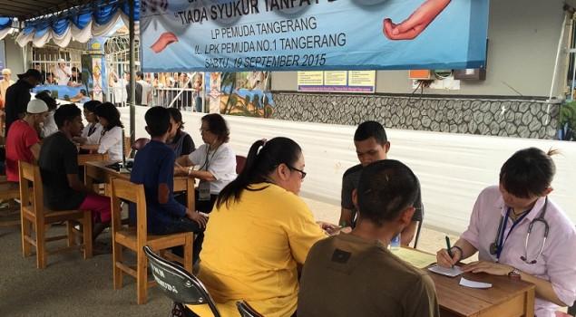 WBP Lapas Pemuda Tangerang Kembali Dapat Pengobatan Gratis