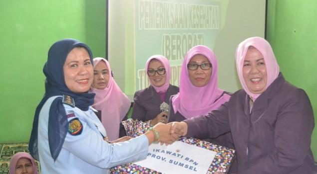 Lapas Wanita Palembang Terima Kunjungan IKAWATI BPN Sumsel