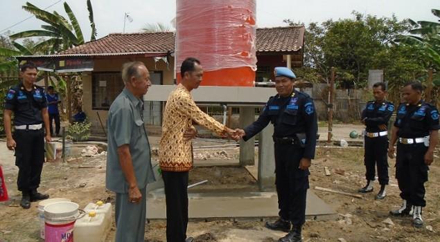 Rutan Prabumulih Serahkan Bantuan Sumur Bor kepada Masyarakat