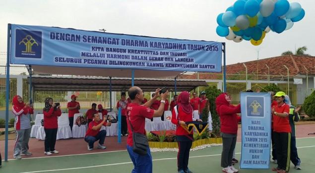 Pekan Olahraga & Seni Awali Rangkaian HDKD Kanwil Banten