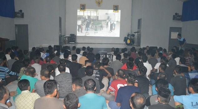 Lagi, Lapas Watampone Ajak WBP Nonton Film Bareng