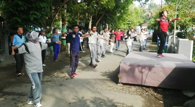 Jalin Silaturahmi Dengan Instansi Pemerintah Daerah, Rupbasan Wates Gelar Senam Bersama