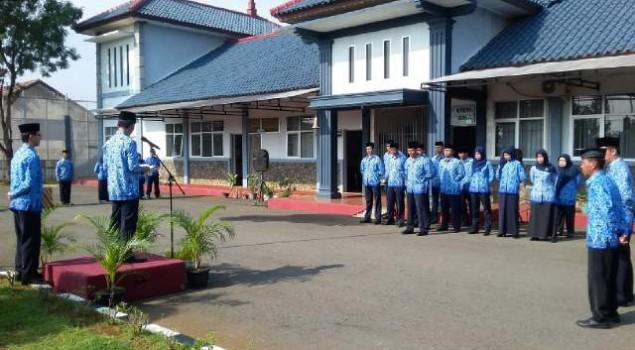 Upacara Hut Korpri Lapas Warungkiara Dirangkai Dengan Pelantikan Pegawai
