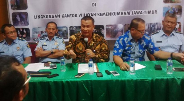Kanwil Hukum dan HAM Jatim Minta BNNP Koordinasi Ungkap Narkoba Lapas