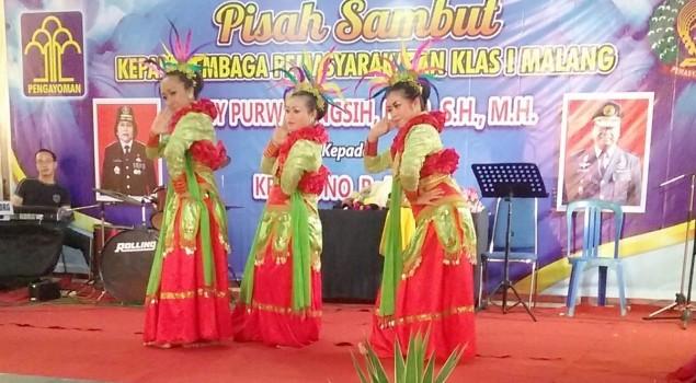 WBP Lapas Wanita Malang Gemulai Suguhkan Tari Banjar Kemuning