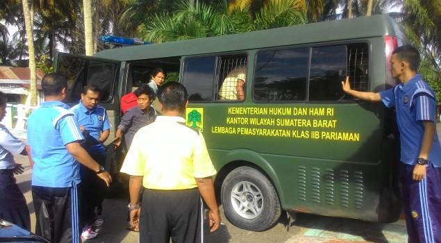 Lapas Pariaman Pindahkan 9 Orang Narapidana Ke Rutan Klas IIB Padang