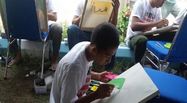 Ketika Warga Binaan LP Belajar Melukis di Yogyakarta