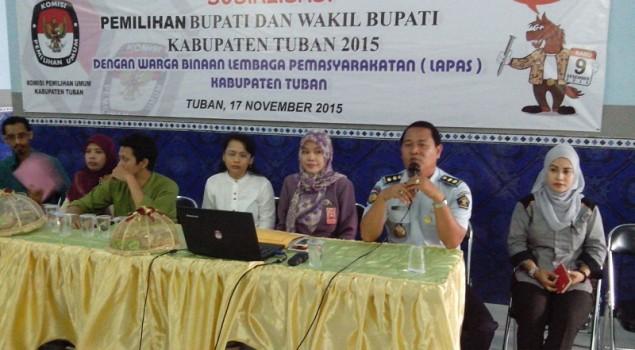 WBP Lapas Tuban Dapat Kesempatan Ikuti Sosialisasi Pilkada