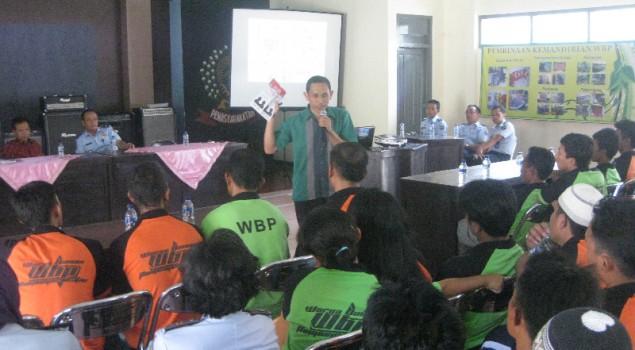 WBP Rutan Trenggalek Antusias Ikuti Sosialisasi Pilkada