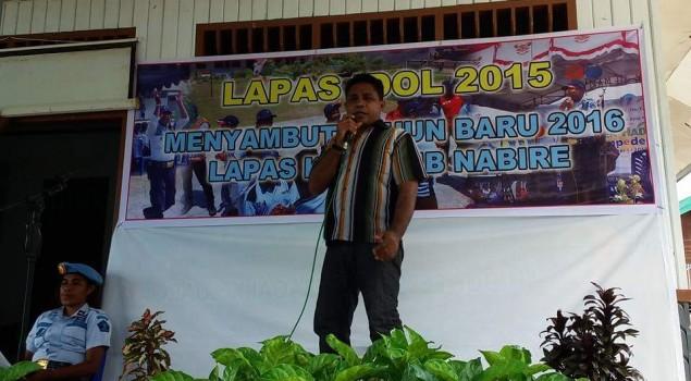 30 WBP Lapas Nabire Bersaing di Lomba Karaoke