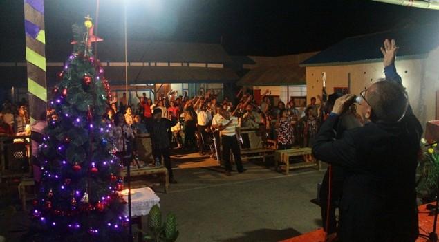 Cabrutan Saumlaki Rayakan Natal Bersama Komunitas Apryan Gym